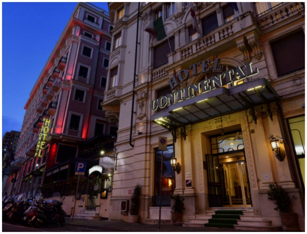 Hotel Continental with the Grand Hotel Savoia next door