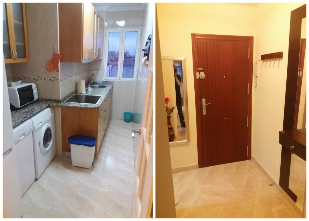 Kitchen & entrance hall AirBnB in Alicante
