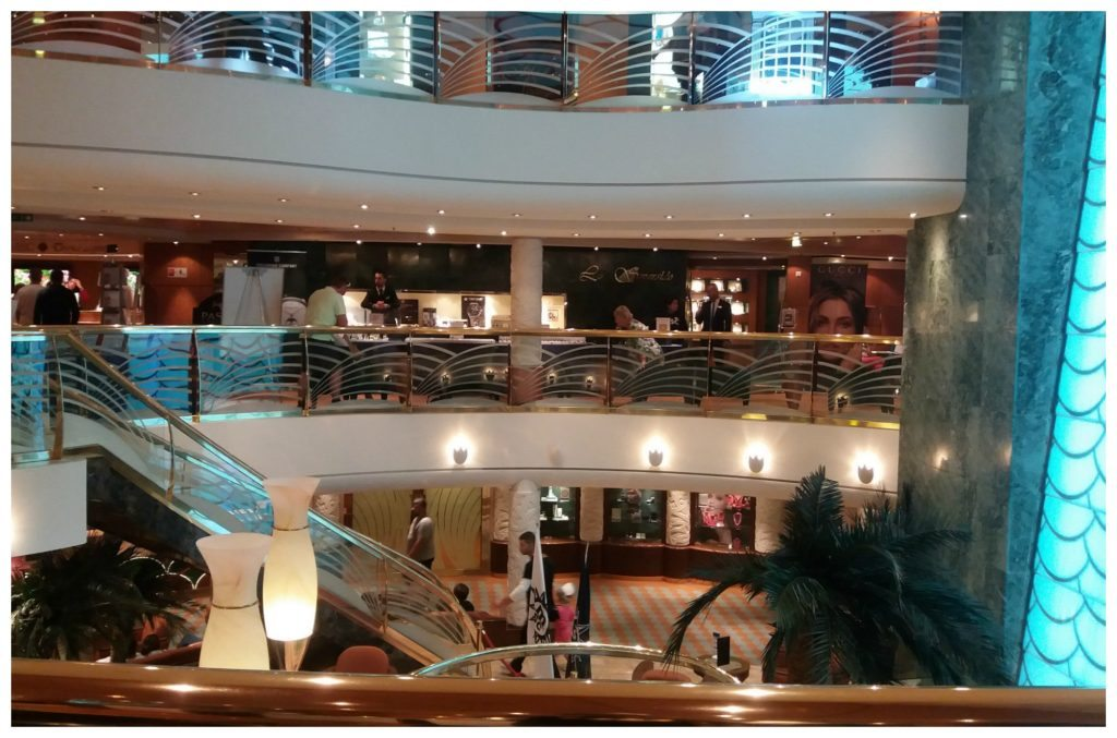 Lobby area over three levels MSC Poesia