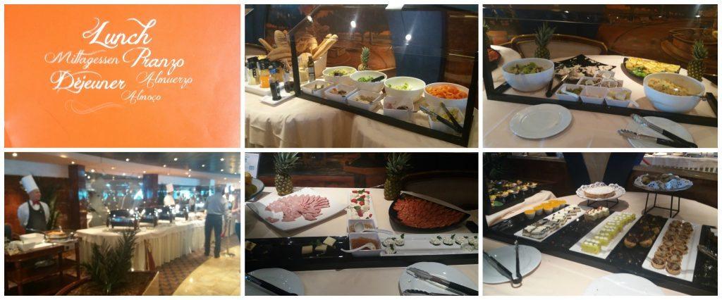 Lunch buffet in Le Fontane restaurant on MSC Poesia