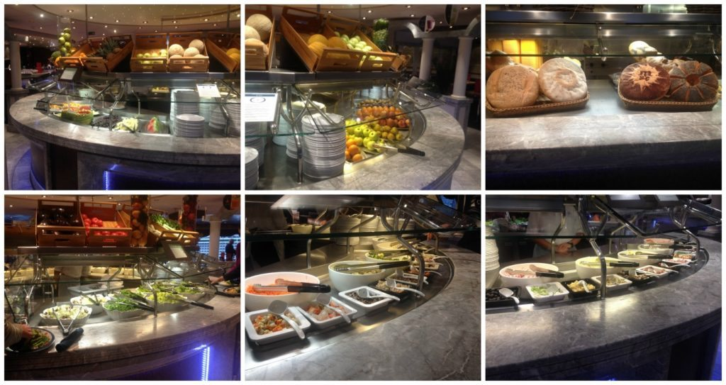 MSC Poesia lunch buffet selcetion