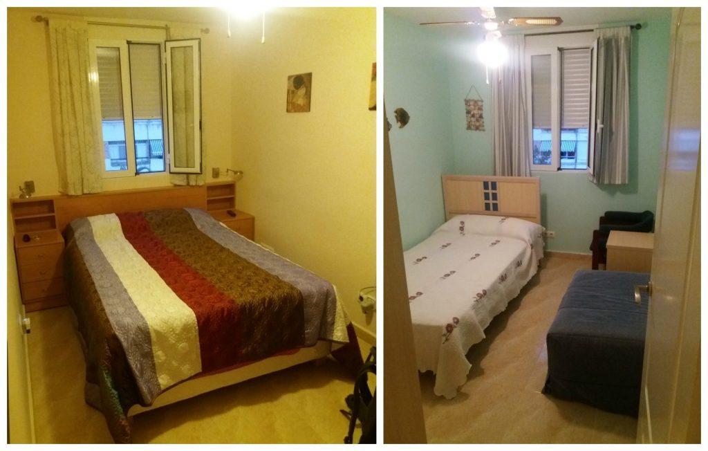 Master bedroom & second bedroom AirBnB in Alicante