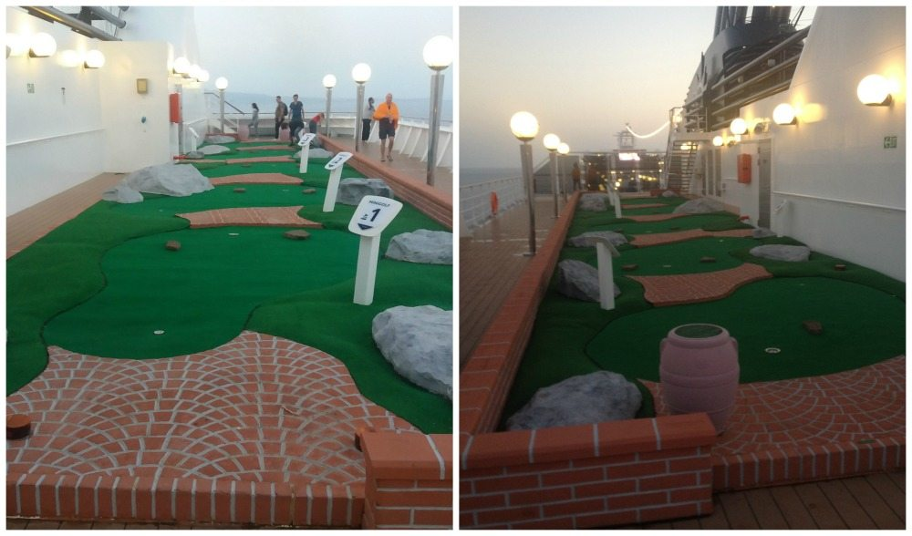 Mini golf on MSC Poesia