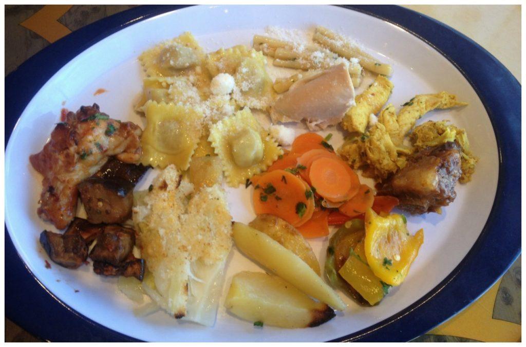 My MSC Poesia buffet lunch