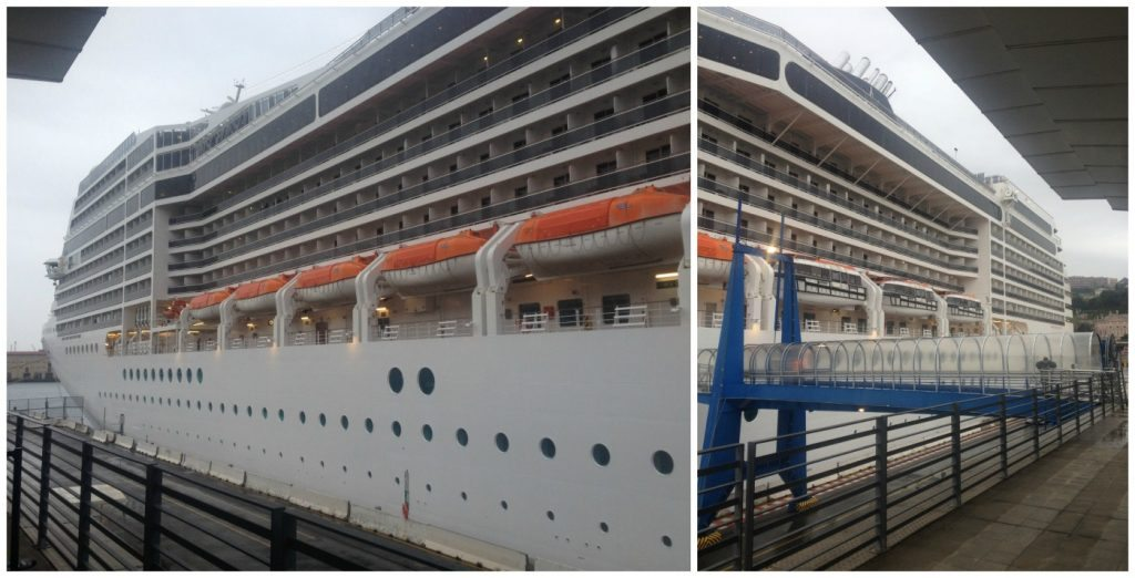 Our first upclose picture of MSC Poesia