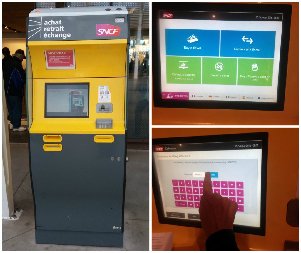 SNCF train ticket machine