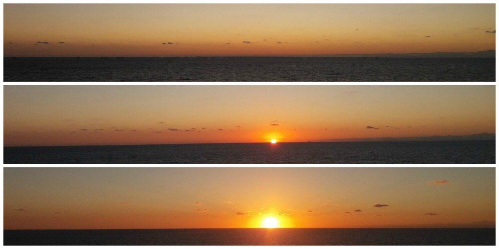 Sunrise after leaving Palma