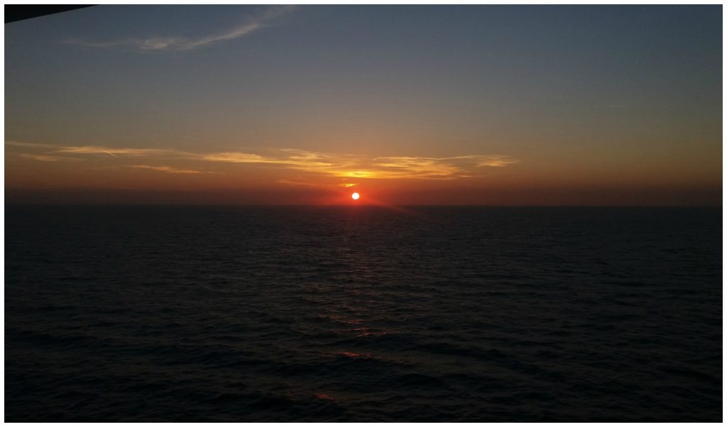 Sunrise heading towards Marseille