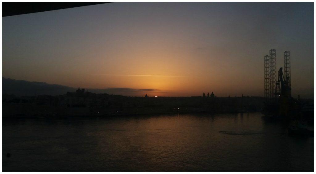 Sunrise over Valletta Malta