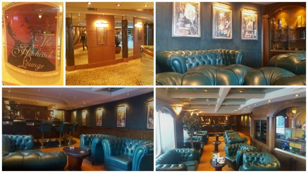 The Hitchcock Lounge on MSC Poesia