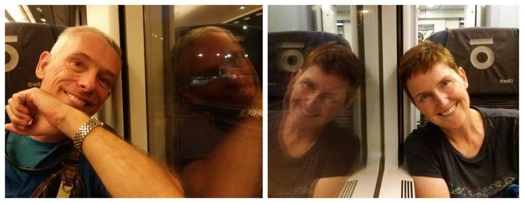The four of us enjoying the Thello train journey