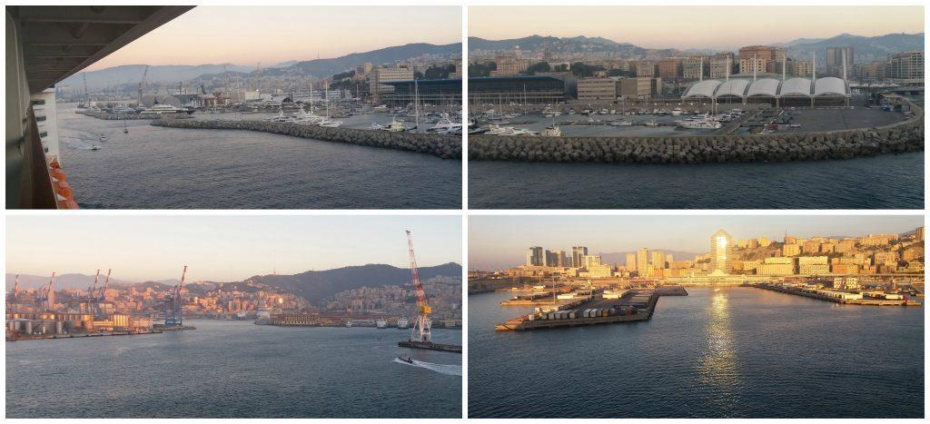 The port of Genoa Italy