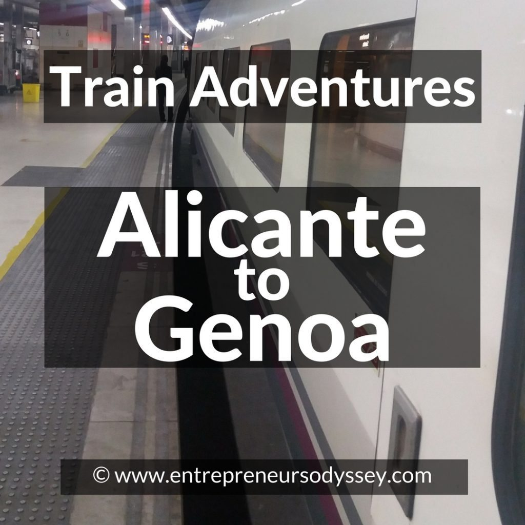 Train Adventures Alicante to Genoa