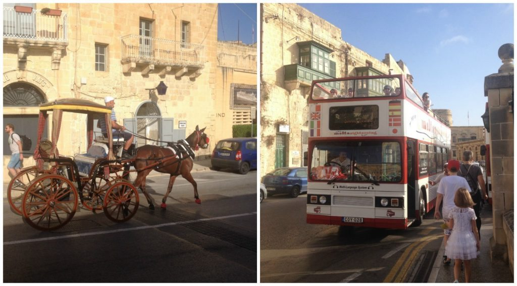 Valletta horse & cart or Hop on Hop off bus