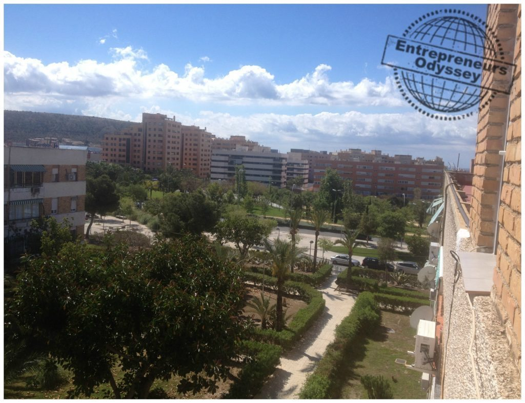 View from our apartment in Alicante