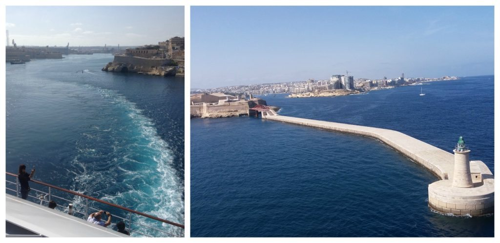 maneuvering out of Grand Harbour Valletta