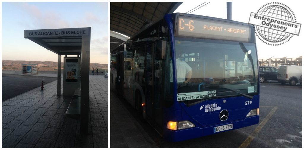 Airport to Alicante city bus