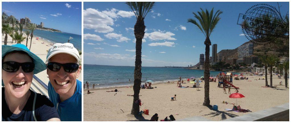 Albufereta beach in Alicante Spain