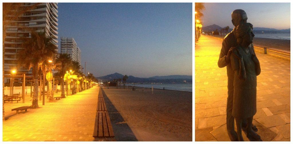 An odd couple watching the sunrise @ San Juan beach