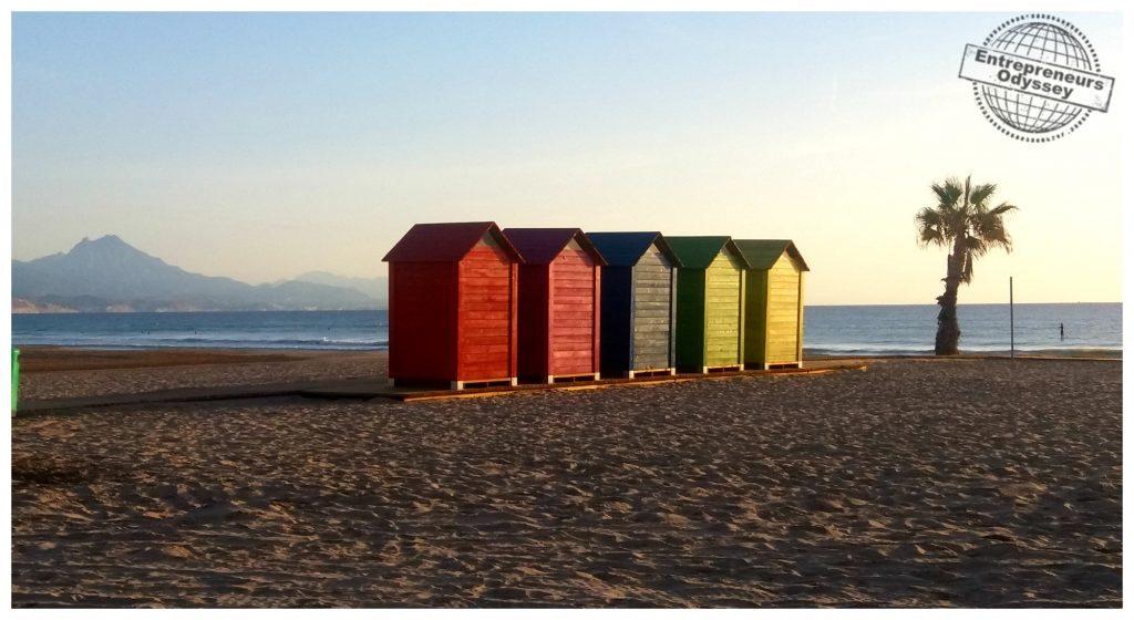Beach huts San Juan