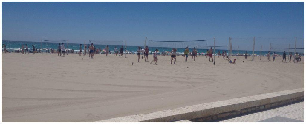 Beach life on the Costa Blanca Spain