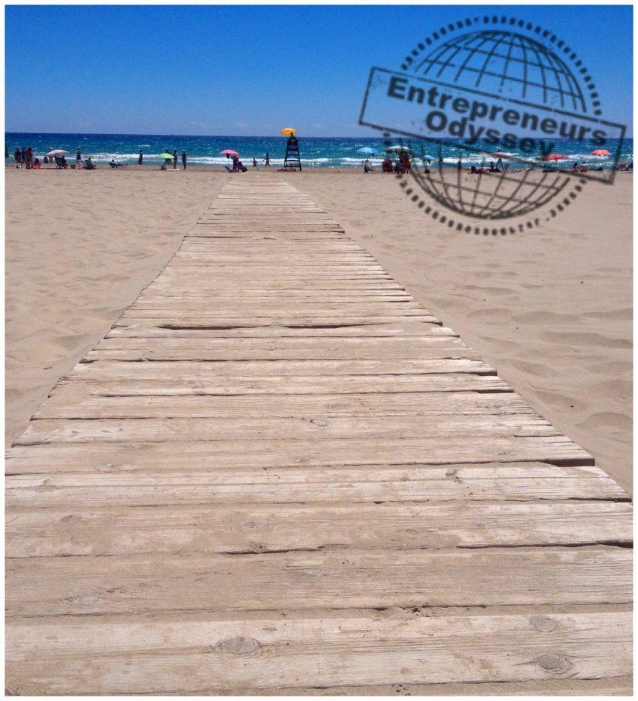 Beach pathway in Alicante