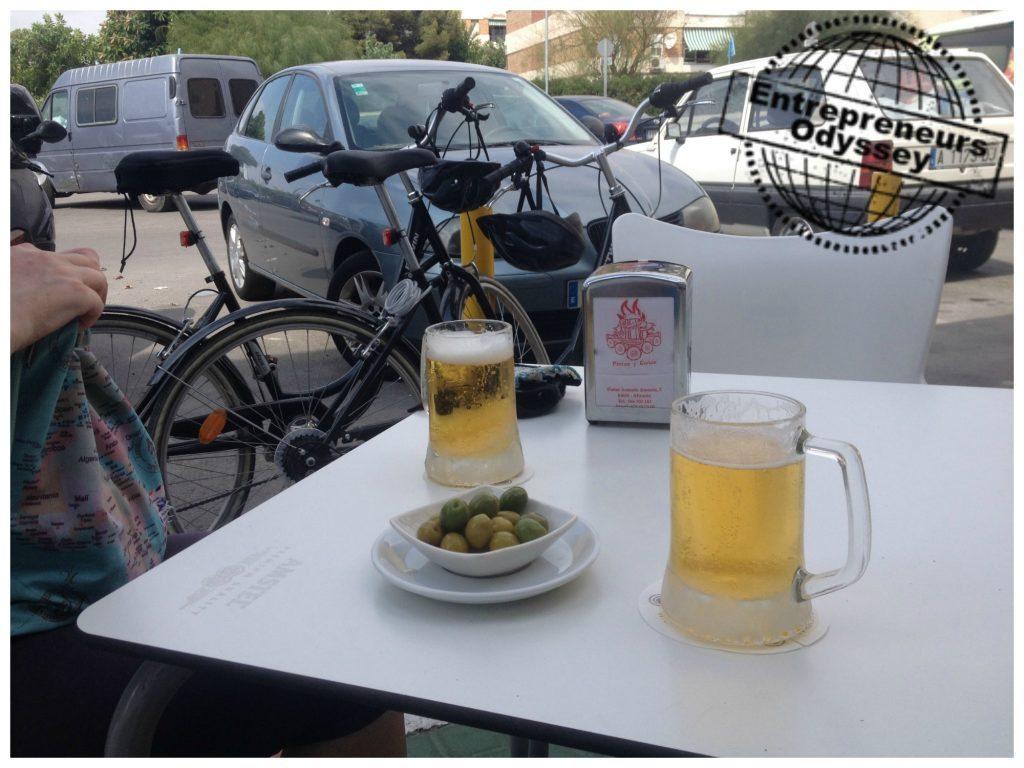 Beers at Parado Pintas y cañas near our apartment