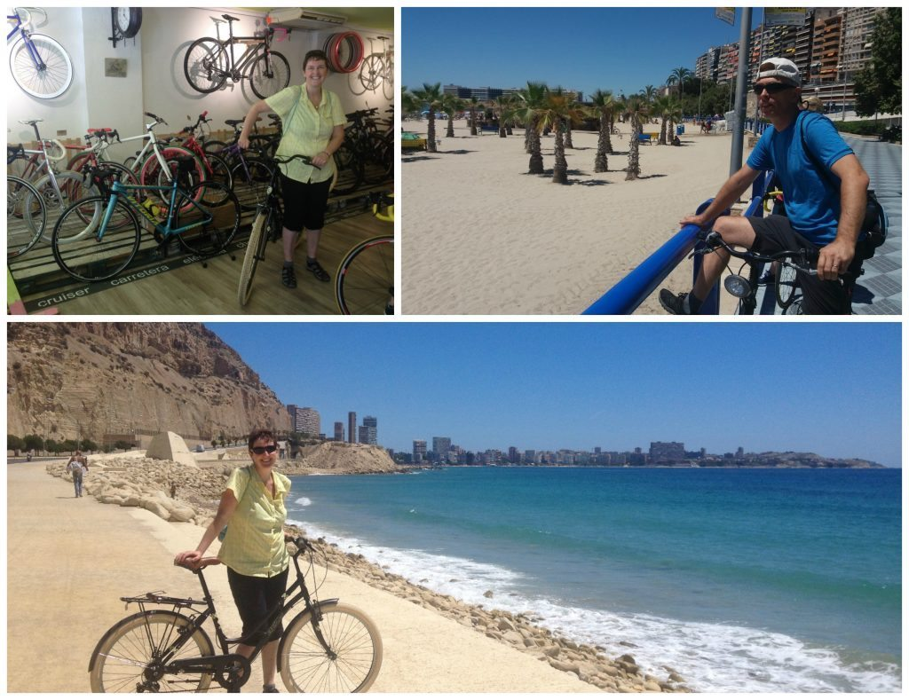 Bike hire and first ride in Alicante
