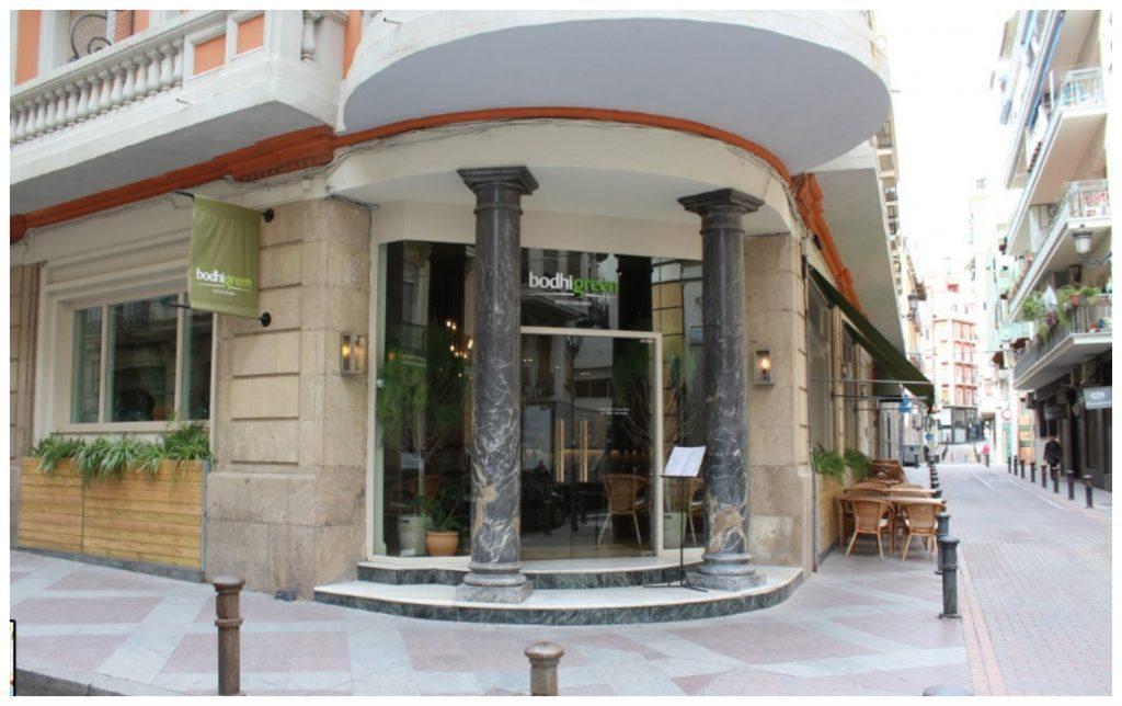 Bodhi Green vegetarian restaurant in Alicante