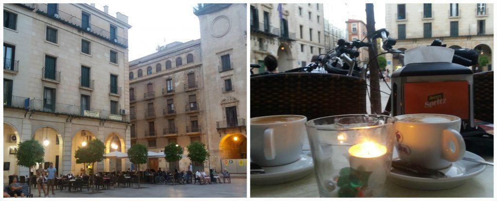 Cafe at Plaça ajuntament de Alacant