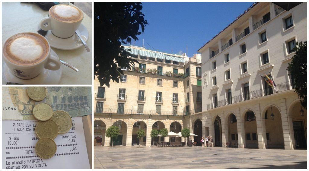 Coffee from Soho Mar at Plaça ajuntament de Alacant
