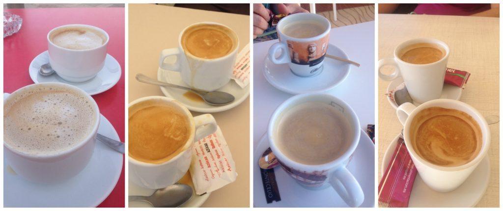 Coffee's from the Costa Blanca beachfront establishments 2016