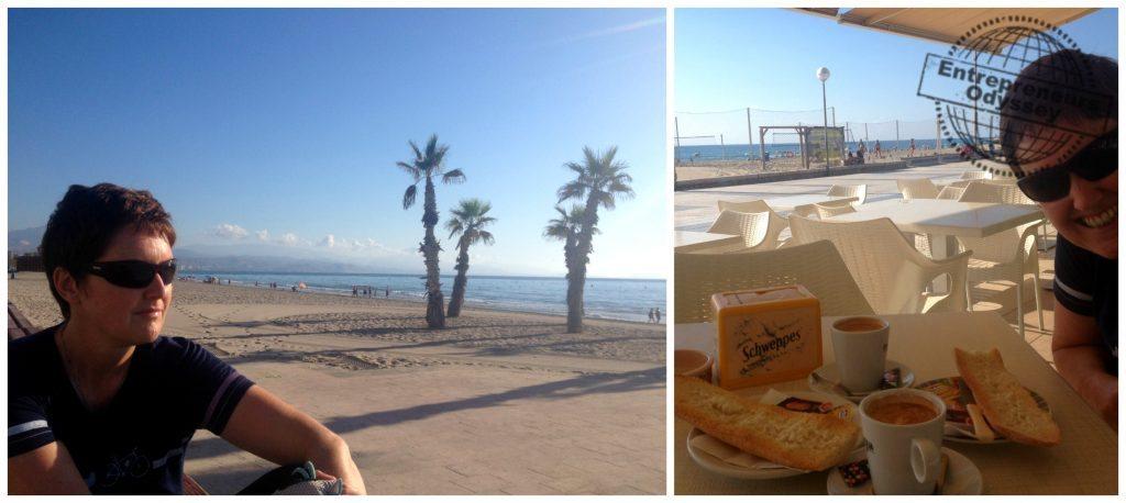 Early morning at San Juan beach for breakfast