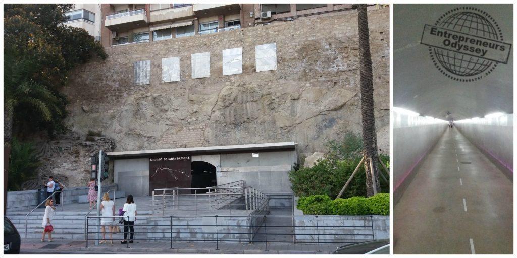 Entrance to the lift at the Castillo de Santa Barbara