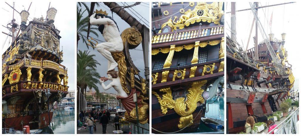 Il Galeone Neptune Pirate Ship in Genoa Italy