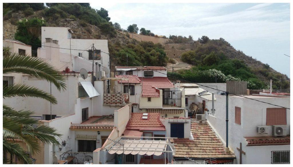Looking towards the Castle Santa Barbara Alicante