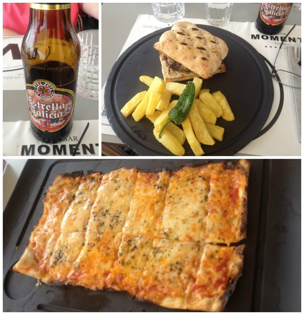 Lunch meals at Moments in Urbanova, Alicante