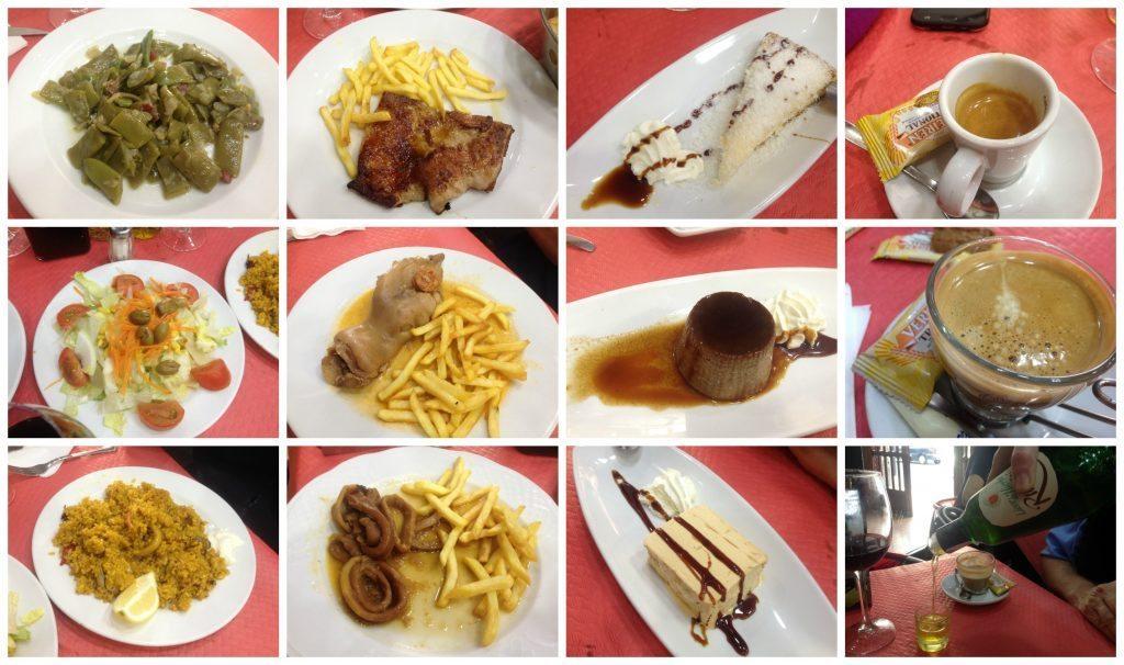 Menu del dia at La Casuca Restaurante in Alicante