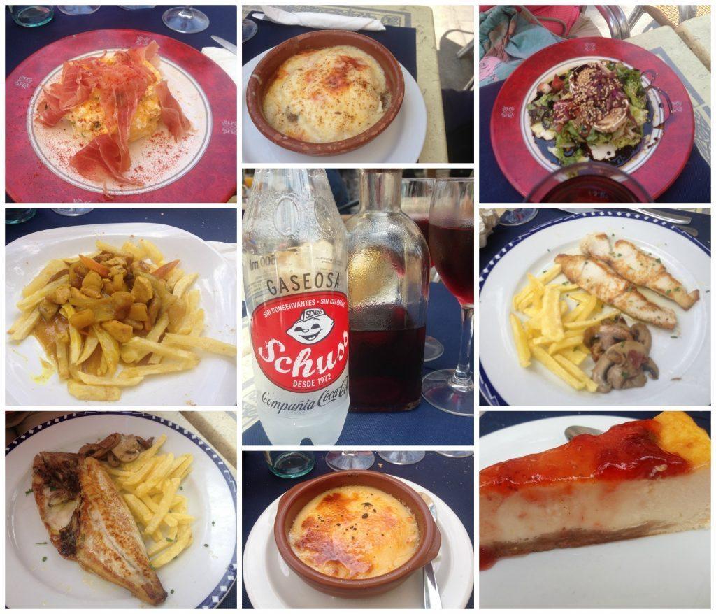Menu del dia meals from Restaurante Rio Carrer Portugal