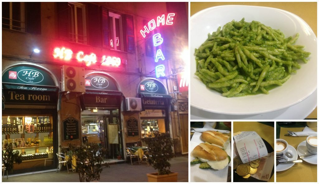 Pasta with Pesto in Genoa at HB Cafe