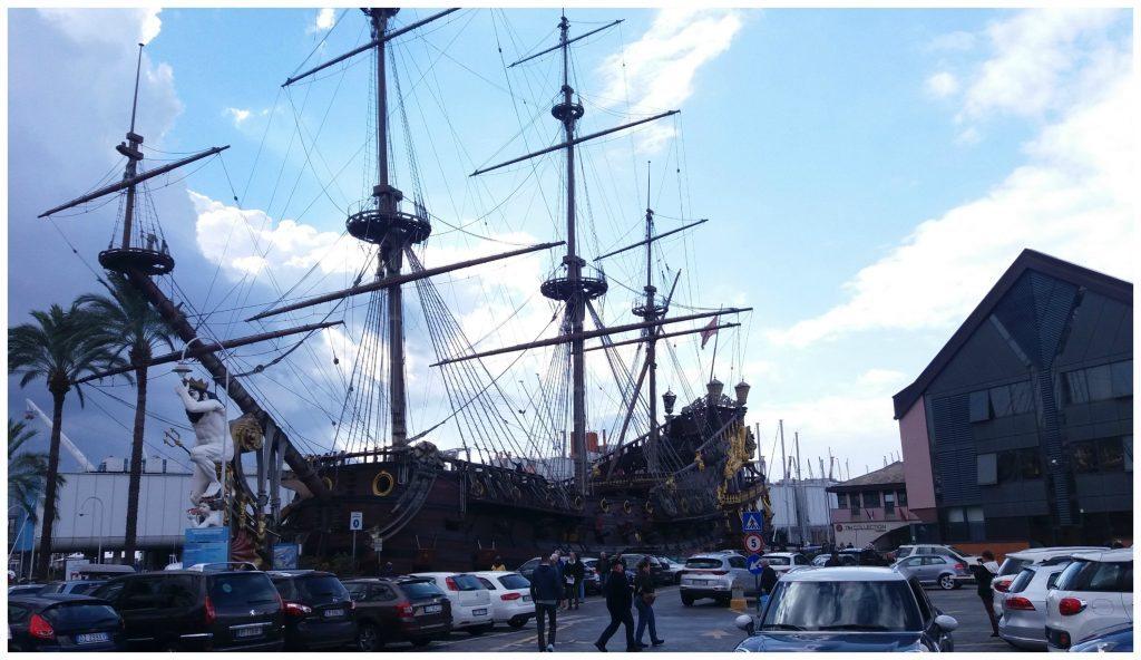 Port Antico - Galeon Neptune Pirate Ship in Genoa Italy