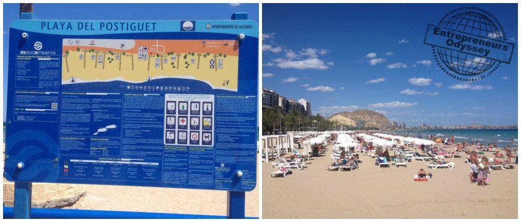 Postiguet beach in Alicante