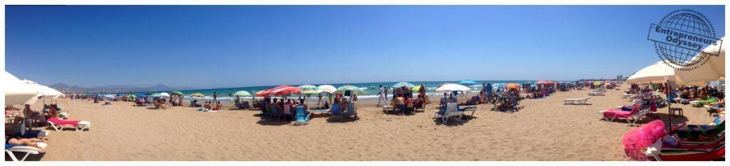San Juan beach day