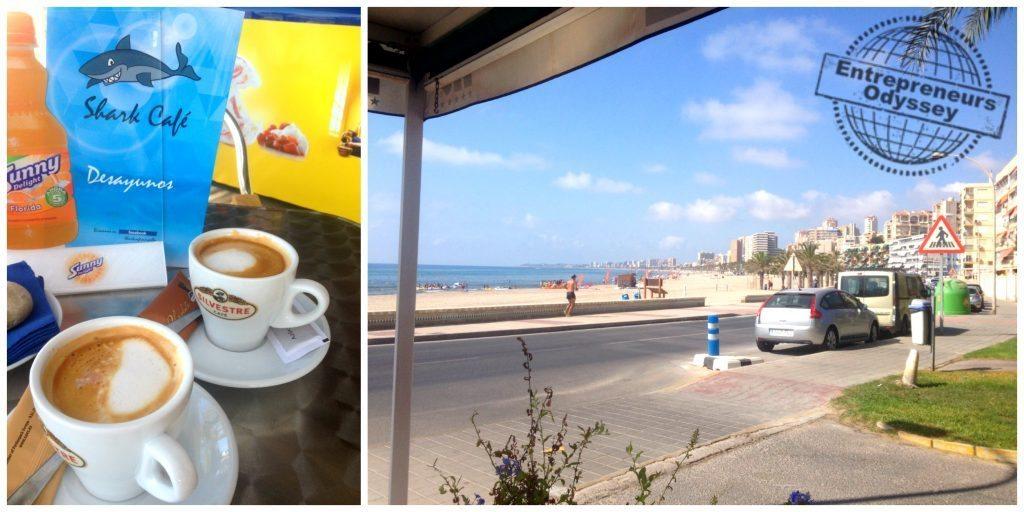 Shark Cafe at Playa Muchavista Costa Blanca