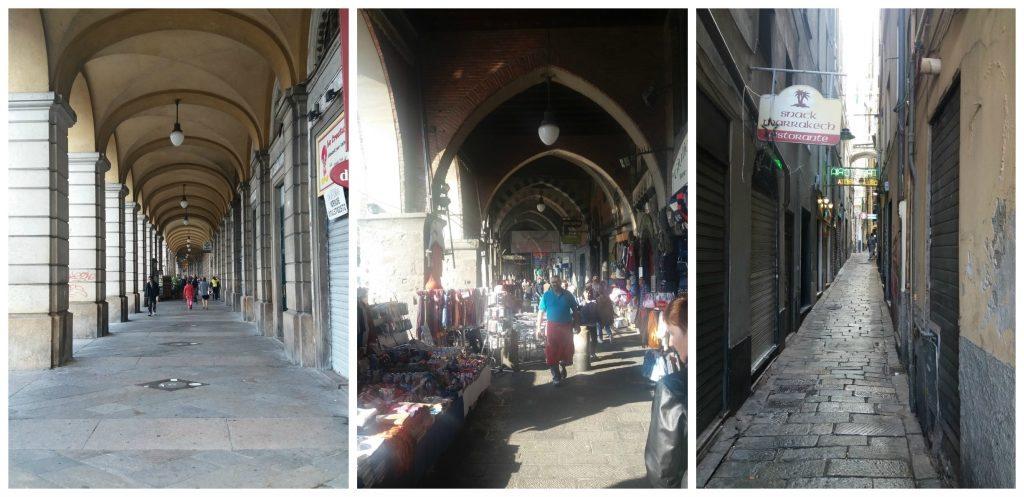 Shopping streets in Genoa