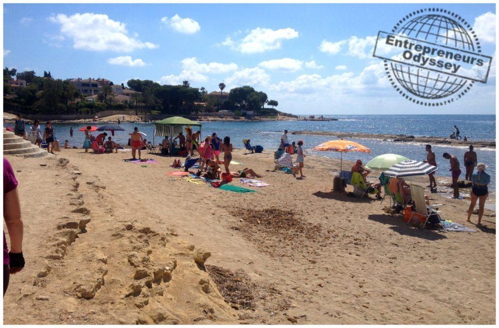 Small beach near Cap de l'Horta Alicante