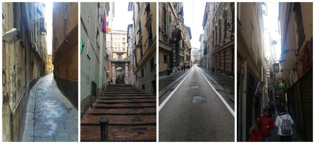 Streets of Genoa Italy