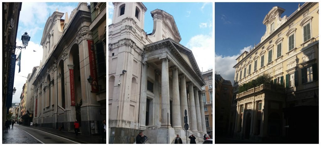 Stunning architecture in Genoa buildings