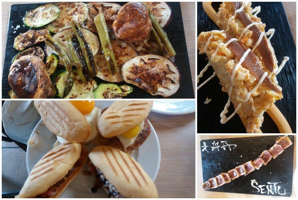 Tapas selection from Sento restaurant in Albufera