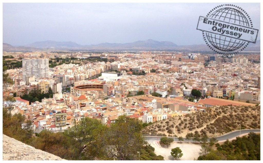 View from Santa Bárbara Castle north-west of Alicante